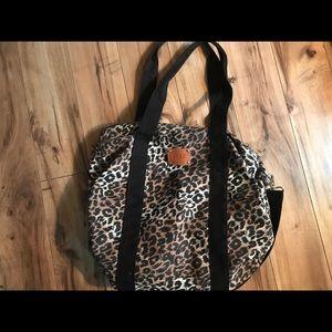 Pink name brand 17x17 overnight bag